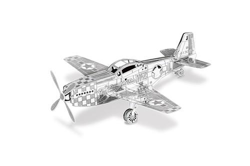 Maquette d'avion - Aviation: MUSTANG P-51 8.92x9.41x2.97cm --Metal Ear