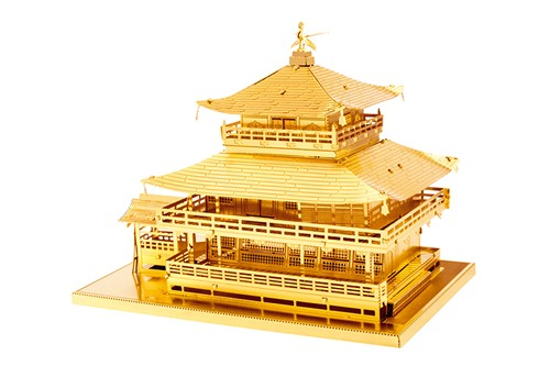 Maquette de bâtiment - Architecture: GOLD KINKAKU-JI --Metal Earth