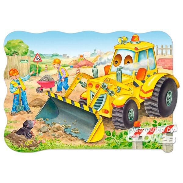 Bulldozer en action Puzzle 20 pièces