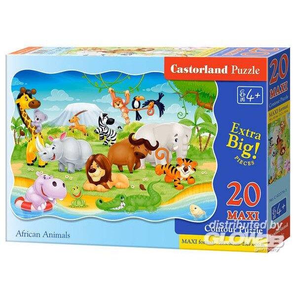 Animaux africains Puzzle 20 pièces