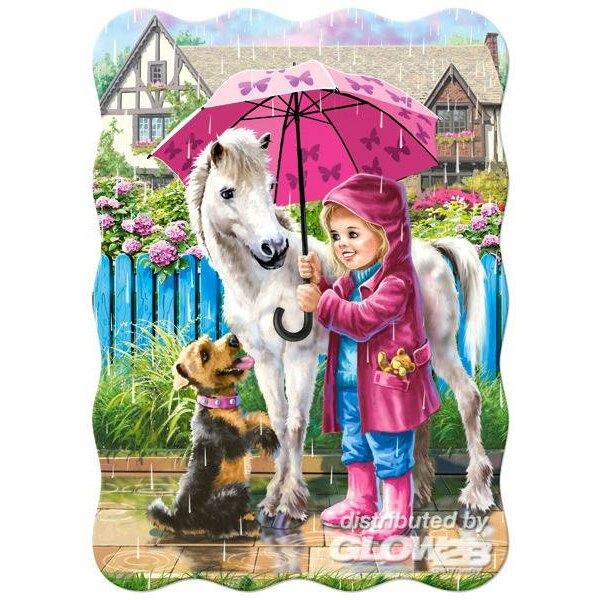Jour de pluie avec des amis Puzzle 30 pièces