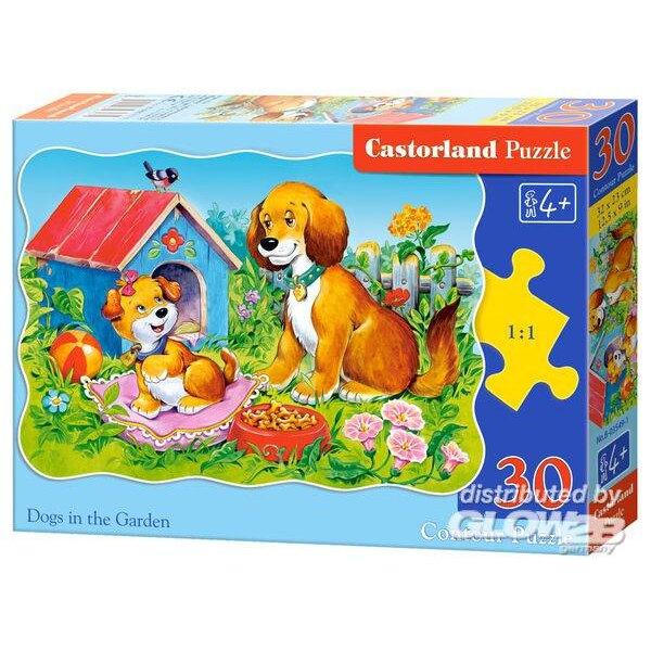 Chiens dans le jardin Puzzle 30 pièces