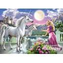 Puzzle Princesse et ses licornes, Puzzle 120 Tei