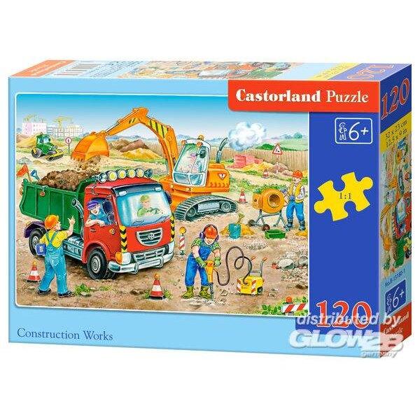 Travaux de construction Puzzle 120 pièces