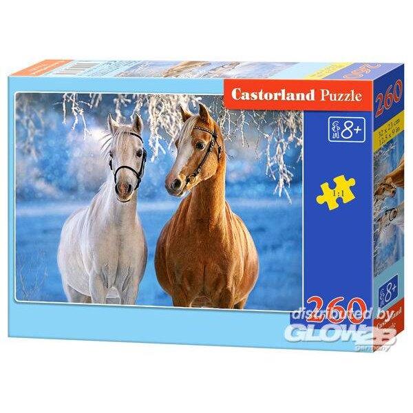 Les chevaux d'hiver Puzzle 260 pièces