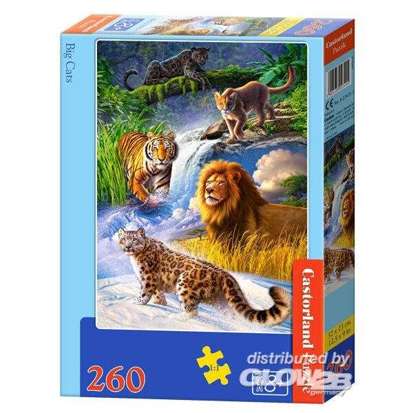 Gros chats Puzzle 260 pièces