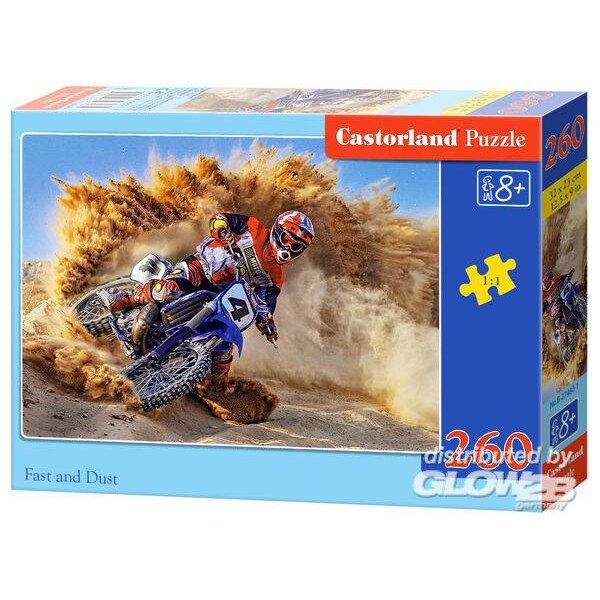 Motocross dans le sable Puzzle 260 pièces