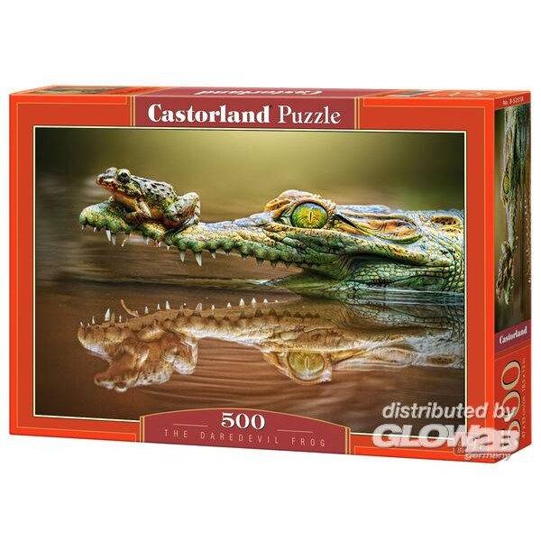 La grenouille sur l'alligator Puzzle 500 pièces