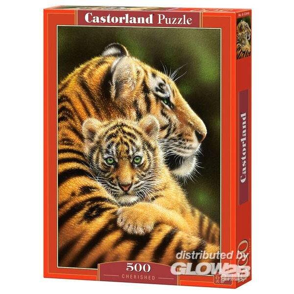 Bébé tigre avec sa maman Puzzle 500 pièces