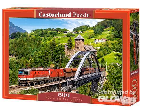 Puzzle - Train sur le pont Puzzle 500 pièces--Castorland