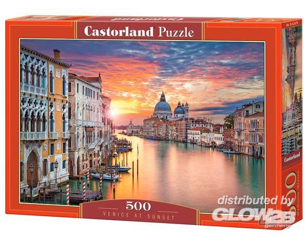 Puzzle - Venise au coucher du soleil Puzzle 500 pièces--Castorland