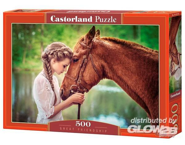 Puzzle - Grande amitié entre une fille et un cheval Puzzle 500 pièces