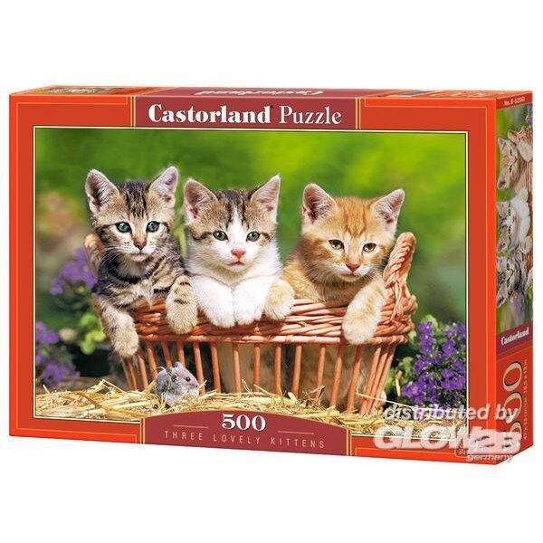 Trois beaux chatons Puzzle 500 pièces