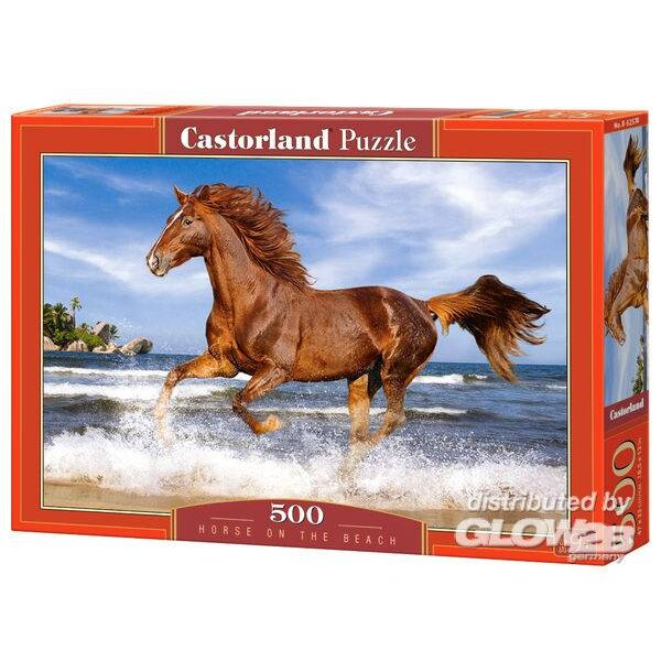 Cheval sur la plage Puzzle 500 pièces