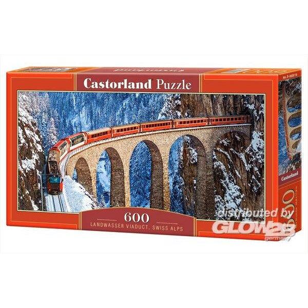 Viaduc de Landwasser, Alpes suisses Puzzle 600 pièces