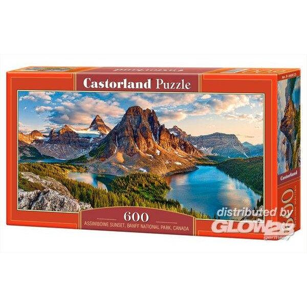 Coucher de soleil Assiniboine, Parc national Banff, Canada Puzzle 600 pièces