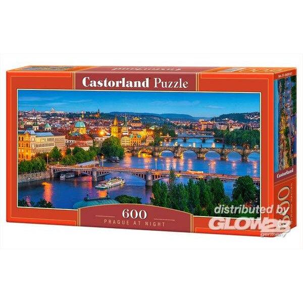 Prague dans la nuit Puzzle 600 pièces