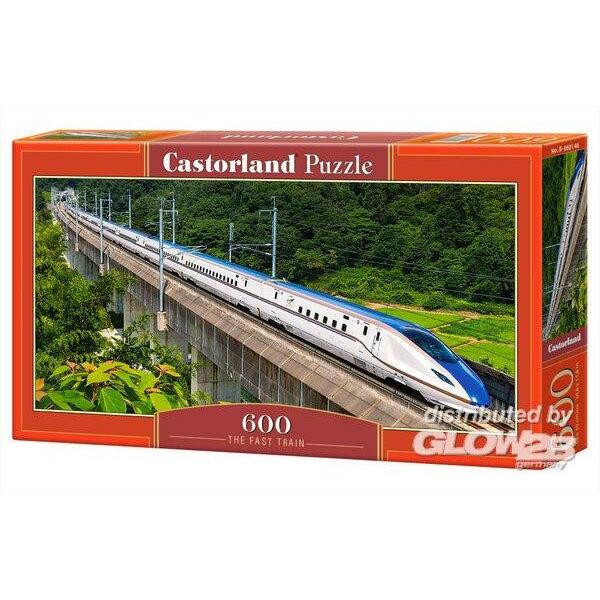Le train rapide Puzzle 600 pièces