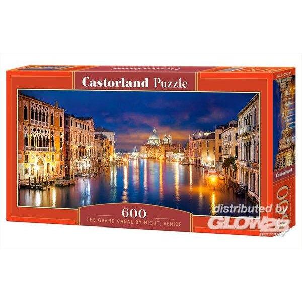 Le Grand Canal de nuit, Venise Puzzle 600 pièces