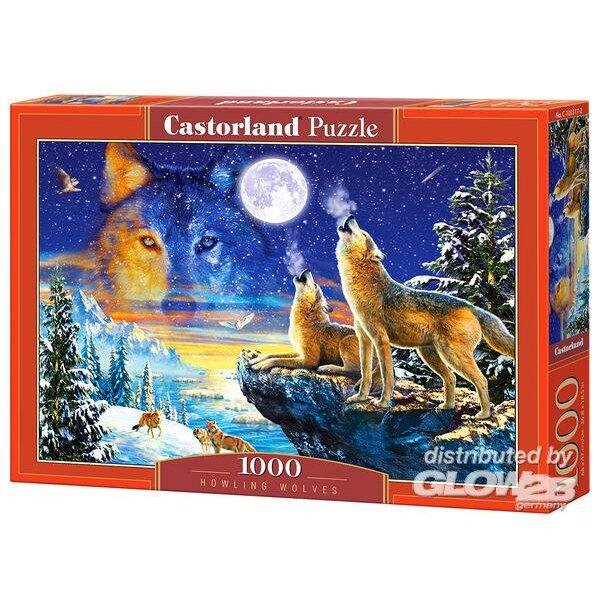 Loups hurlants Puzzle 1000 pièces