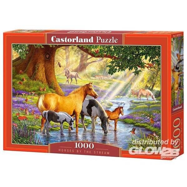 Chevaux près du ruisseau Puzzle 1000 pièces