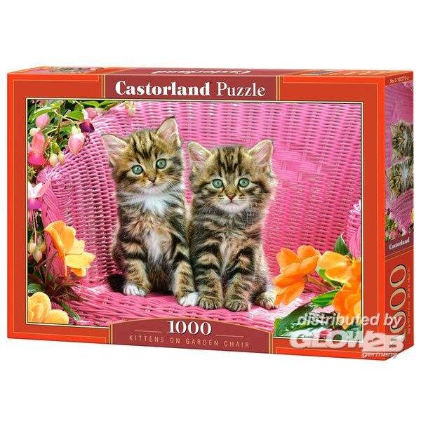 Chatons sur la chaise de jardin Puzzle 1000 pièces