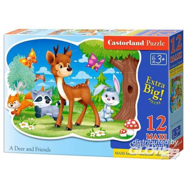 Un cerf et ses amis Puzzle 12 pièces