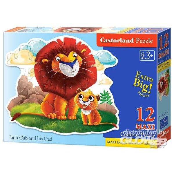 Lionceau et son papa Puzzle 12 pièces