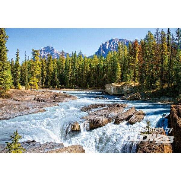 Rivière Athabasca, Parc national de Jasper, Canada. Puzzle 1500 pièces
