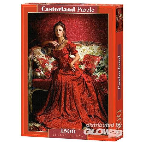 Beauté en rouge Puzzle 1500 pièces