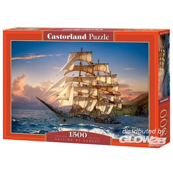 Voile au coucher du soleil Puzzle 1500 pièces
