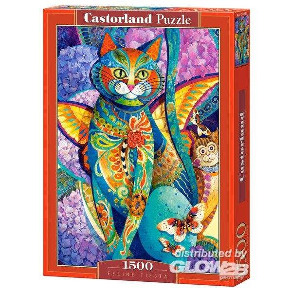 Fiesta féline Puzzle 1500 pièces