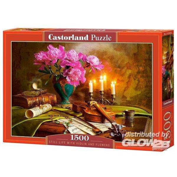 Nature morte avec violon et fleurs Puzzle 1500 pièces