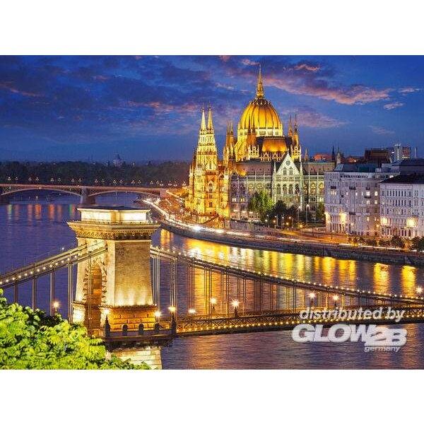 Vue de Budapest au crépuscule Puzzle 2000 pièces