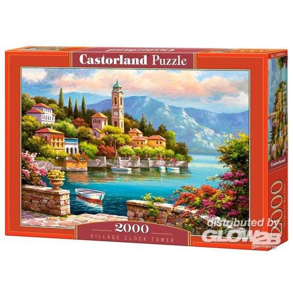 Tour de l'horloge du village Puzzle 2000 pièces