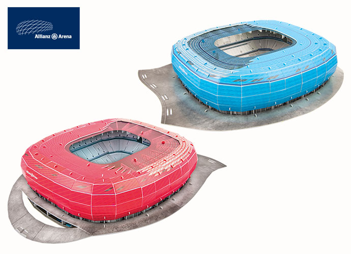 Maquette de bâtiment - Allianz Arena (Bayern Munchen Red Packing) 119