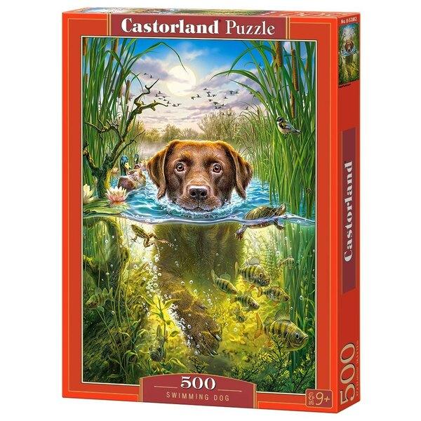 Chien de natation Puzzle 500 pièces