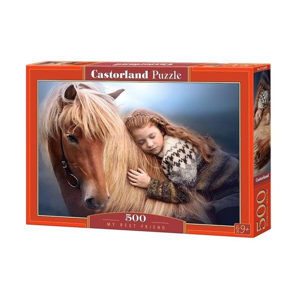 Un cheval et sa cavalière Puzzle 500 pièces