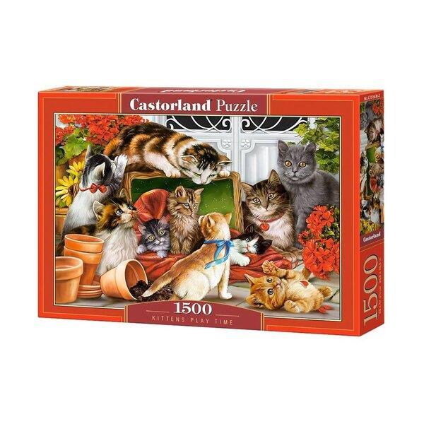 Temps de jeu des chatons Puzzle 1500 pièces