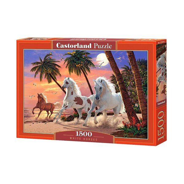 Chevaux blancs Puzzle 1500 pièces