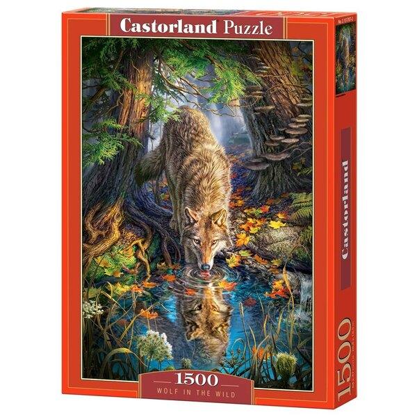 Loup dans la nature Puzzle 1500 pièces