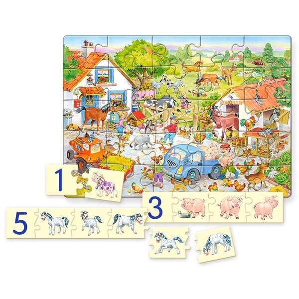 La ferme en folie Puzzle 25 pièces