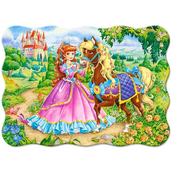 Princesse et son cheval Puzzle 30 pièces