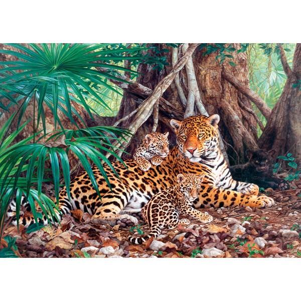 Jaguars dans la jungle Puzzle 3000 pièces