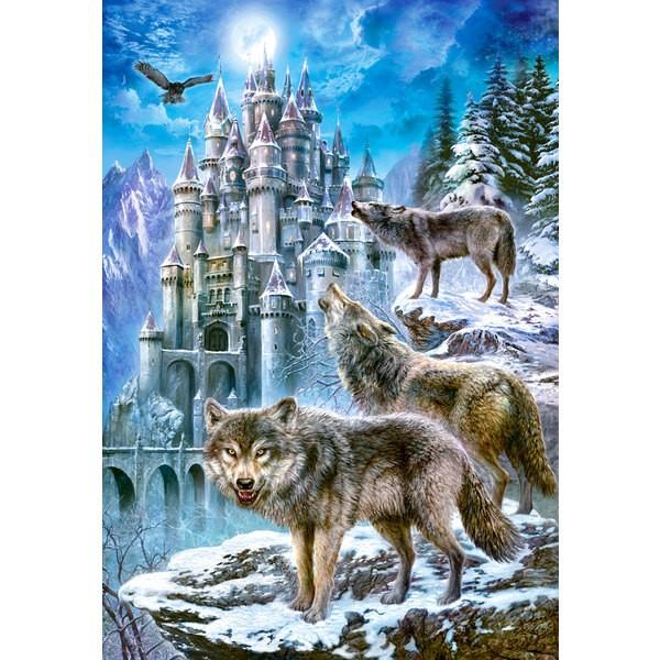 Puzzle Loups et Château