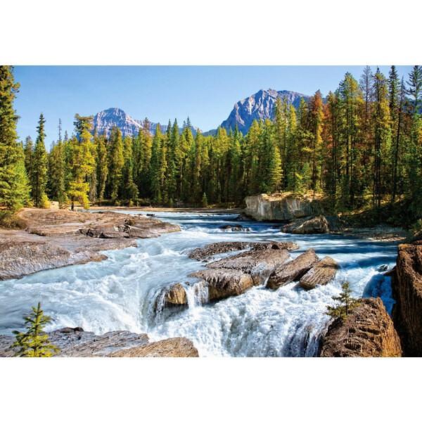 Puzzle Rivière Athabasca, Parc national de Jasper, Canada.