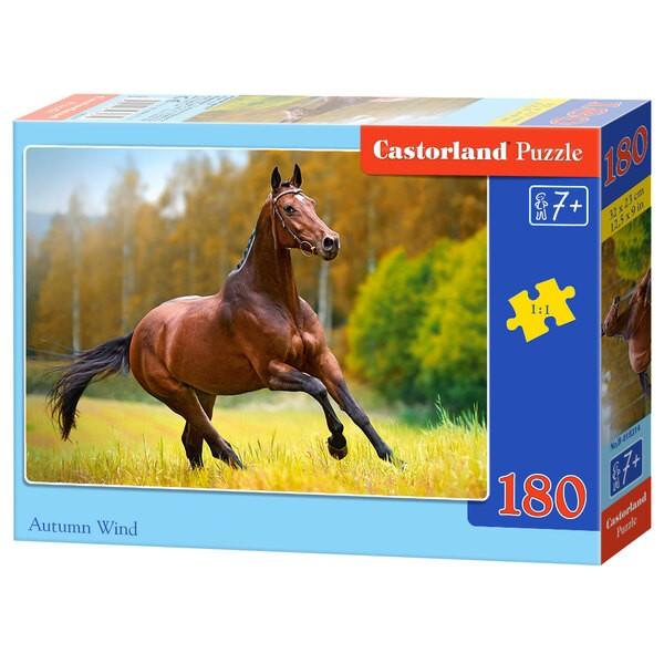 Un cheval courant dans la prairie Puzzle 180 pièces