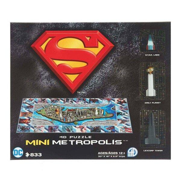 Superman puzzle 4D Mini Metropolis (833 pièces) Puzzle 3d 833 pièces