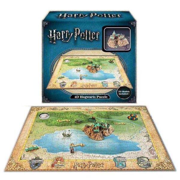 Harry Potter puzzle 4D Mini Hogwarts Puzzle 3d 500 pièces