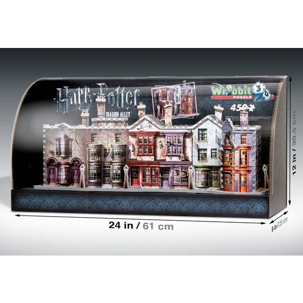 Harry Potter Puzzle 3D Built-Up Demo avec présentoir vitrine Diagon Alley Puzzle 3d 450 pièces